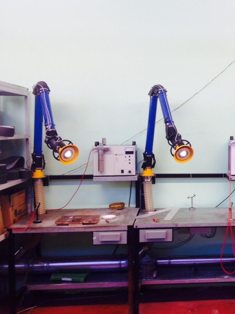 Braccio HD standard a banco per aspirazione fumi saldatura in impianto centralizzato