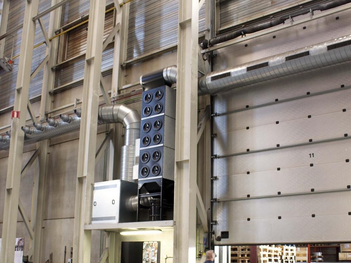 Installazione filtro MDB per sistema polveri aerodisperse