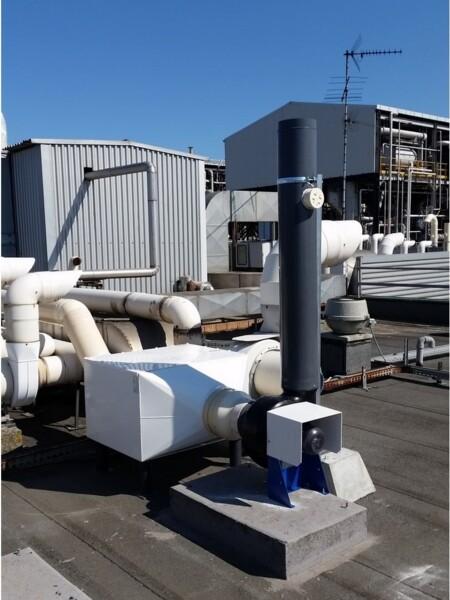Filtro industriale con carboni attivi