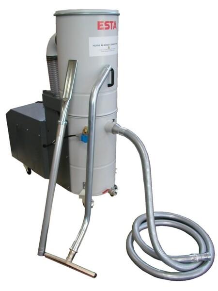 aspiratore carrellato per aspirazione polveri calde e infiammabili