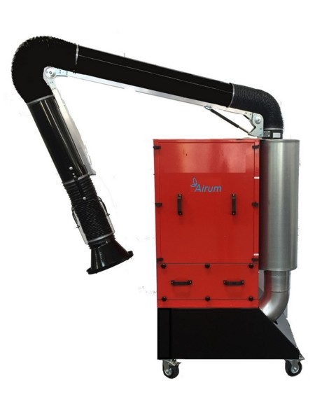 Gruppo aspiro-filtrante per filtrazione polveri esalazione e odori