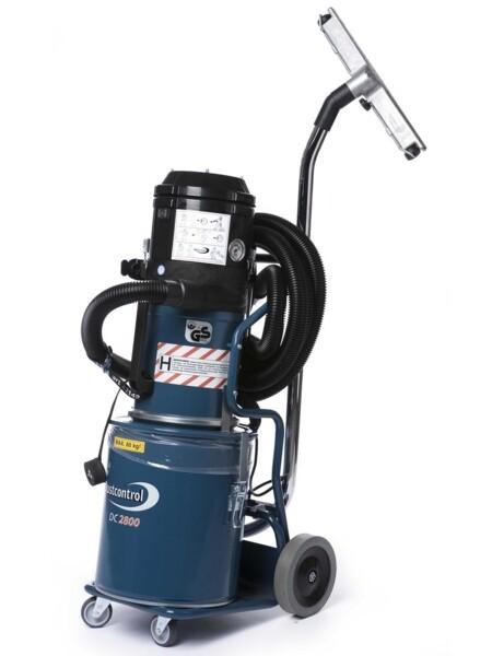 Aspirazione polveri di amianto con DC 2800