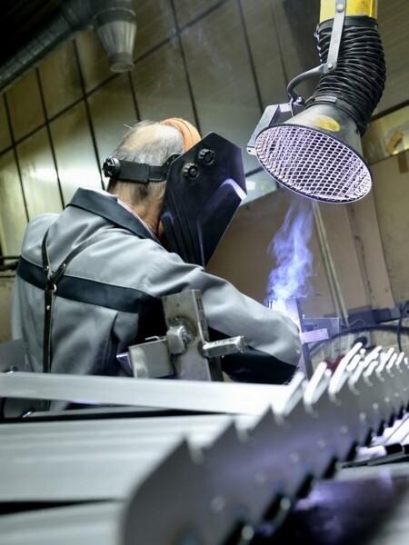 Gamma completa bracci di aspirazione per l'industria e i laboratori.