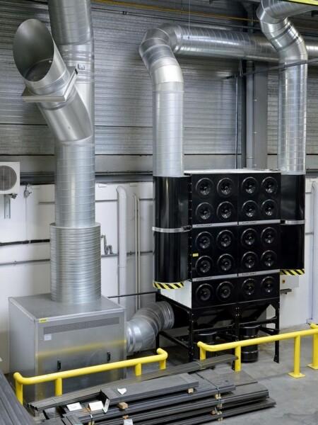 Filtro industriale fisso a cartucce MDB impianto centralizzato per fumi di saldatura