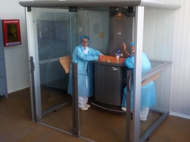 Nessuna contaminazione dei reparti produttivi grazie alle nostre cabine fumatori