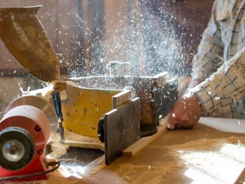 Aspirazione segatura da taglio legno