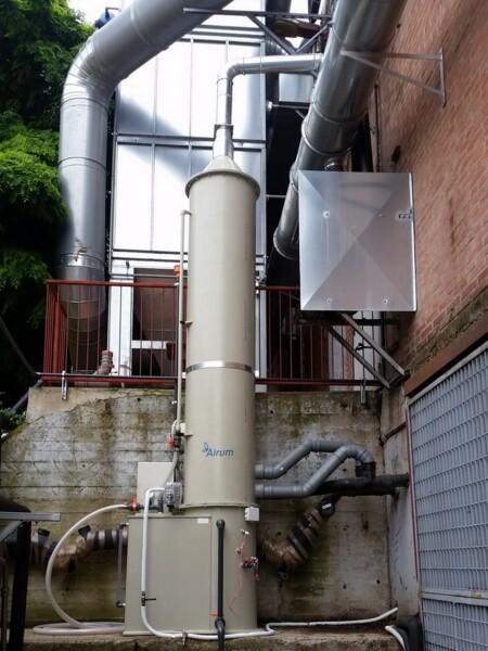 Torre di lavaggio PT per gas e fumi corrosivi