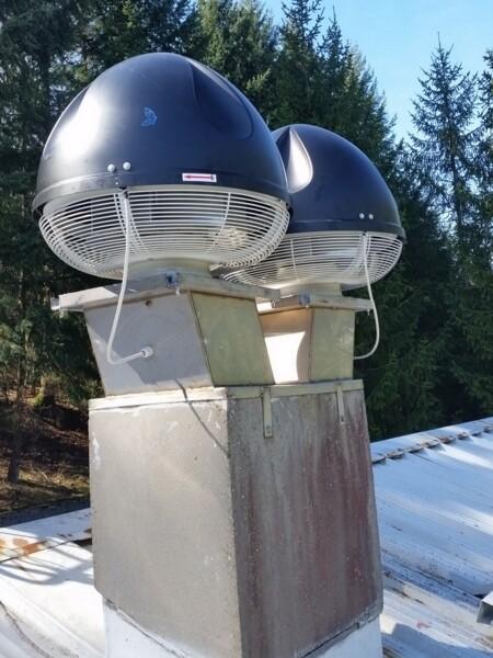 Montaggio torrini di estrazione centrifughi
