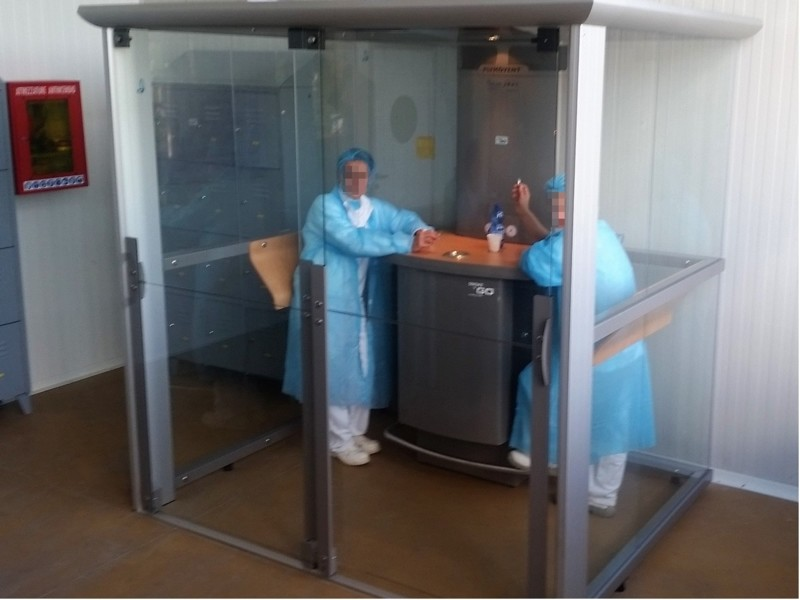 Cabina fumatori per industria alimentare