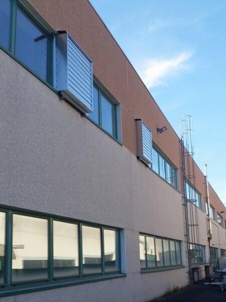 Ventilatori industriali elicoidali per ricambio aria