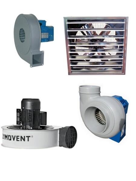 Ventilatori industriali per impianto di aspirazione